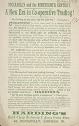 Advert For Harding's Stationery Store